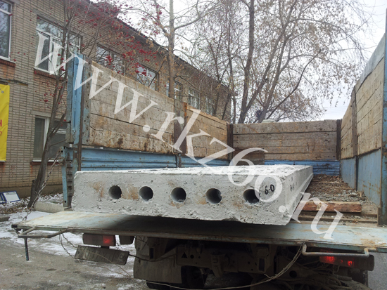 Плиты пустотного настила ПК 60-12-8, ПК 40-12-8 отгружены в города Первоуральск и Билимбай