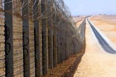 Пограничный забор сооружён на границе Израиля и Египта