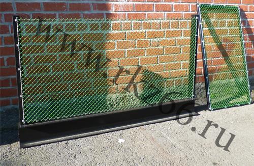 Сетка рабица секции забор, секционный забор из сетки рабица