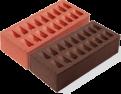 Кирпич красный и коричневый